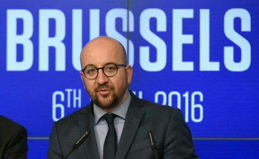 Eerste minister Michel tijdens persconferentie 'België is geen Failed state'.